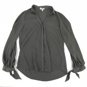 Express Portofino Slim Fit Gray Blouse